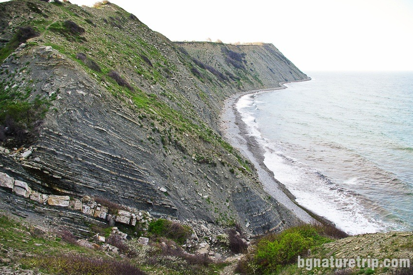 The steep shores of Cape Emine, Bulgaria