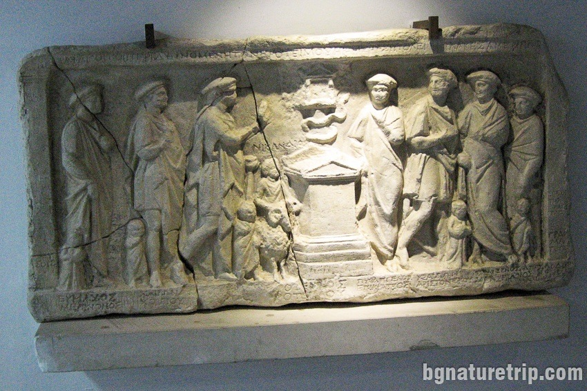 Relief of the strategists of Mesambria from II - I century BC