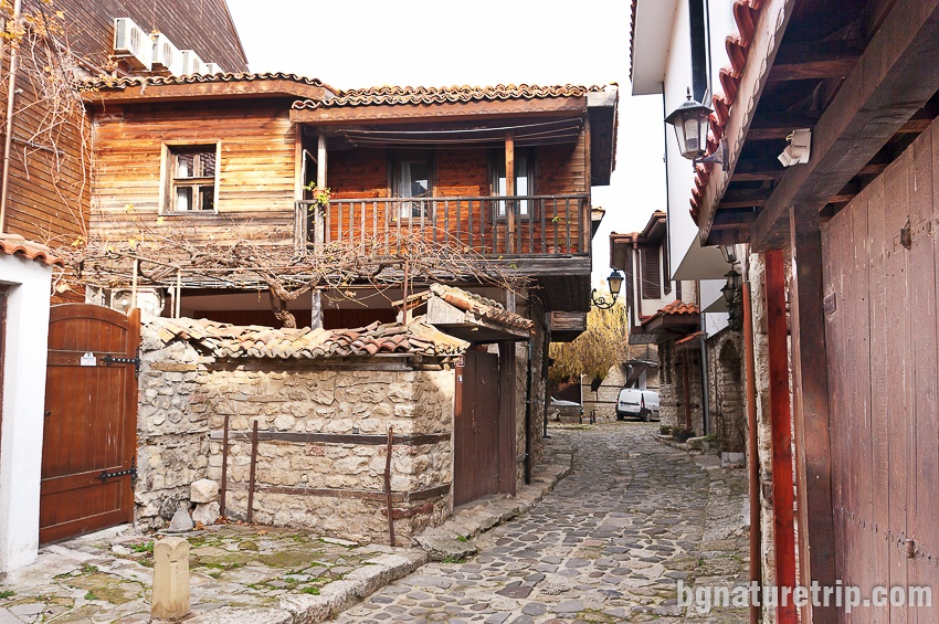 One of the streets with old homes, Nessebar