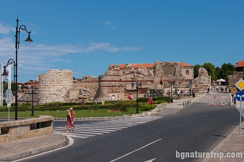 The fortress at the entrance of Nessebar