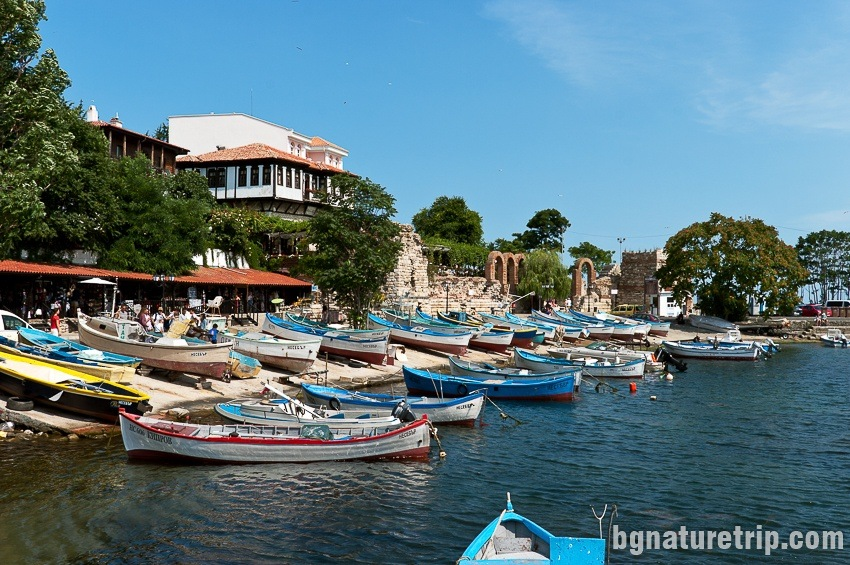 "Small harbour for fishing boats in the southern part of Nessebar ""Old Town"" near the isthmus"