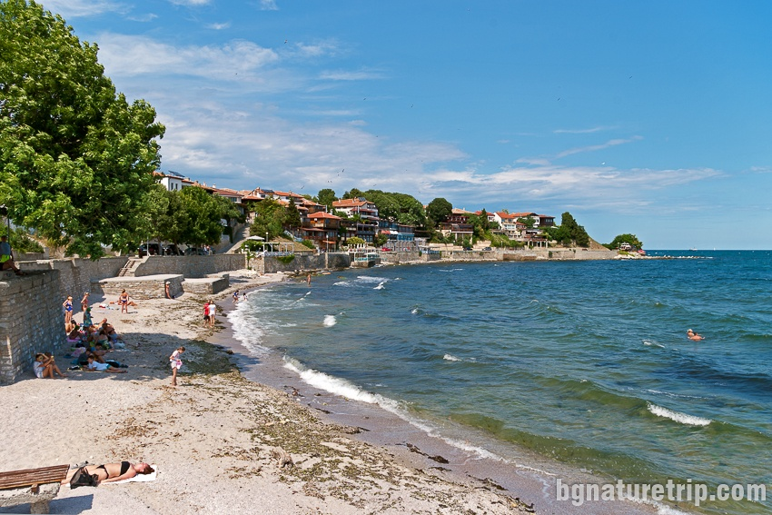 A small beach near the southern port of Nessebar