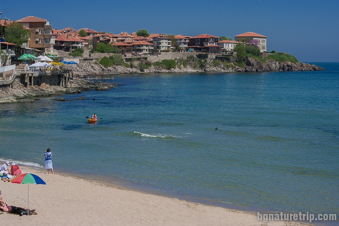 View of the old part of Sozopol from the central beach.