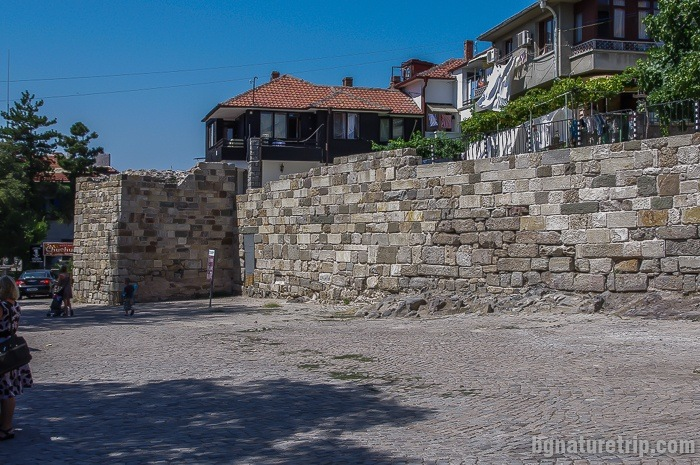 The restored fortress wall in the centre of Sozopol