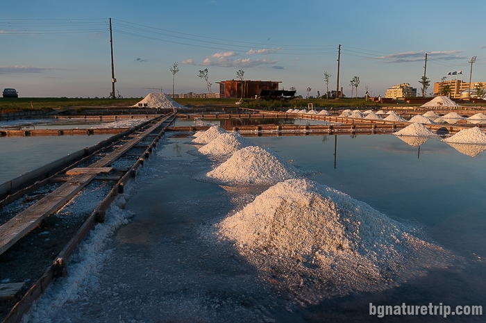 "Piles ready salt, in front of the ""Museum of Salt"", Pomorie"