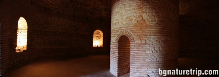 The round cell with niches that once housed urns with the dust of the dead