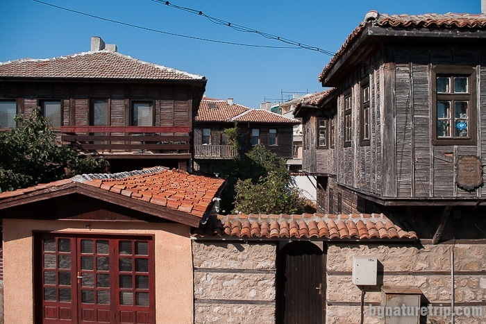 Another view of the old houses in Pomorie