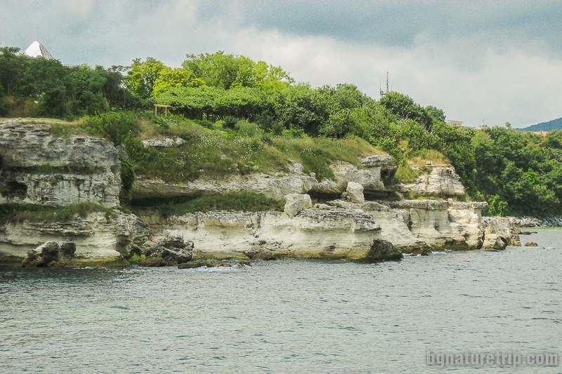 Another white limestone. To the right of these rocks is the Central Beach of Tsarevo