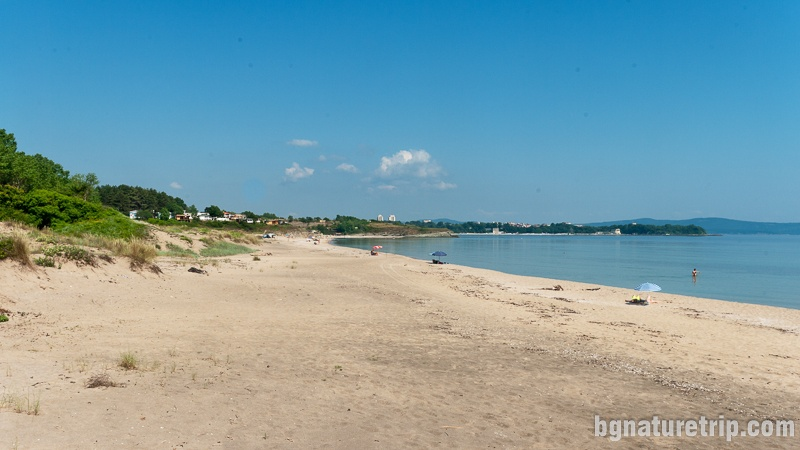"The spacious and long strip of ""Coral"" Beach, Lozenets, Bulgaria"
