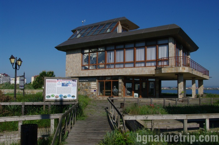 The building of Pomorie Lake Visitor Centre