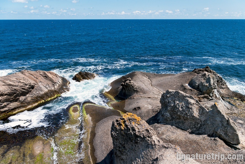 dramatic cliffs of the coast
