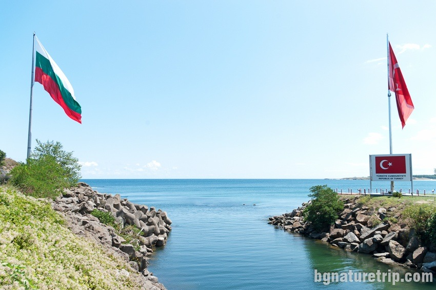 The mouth of the Rezovska River - a border between Bulgaria and Turkey