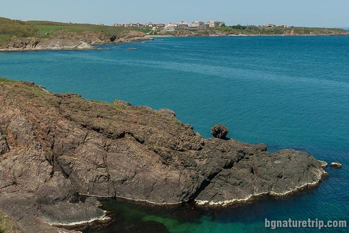"The ""Sisyphus Rock"", close to the wild beach ""Lipite"""