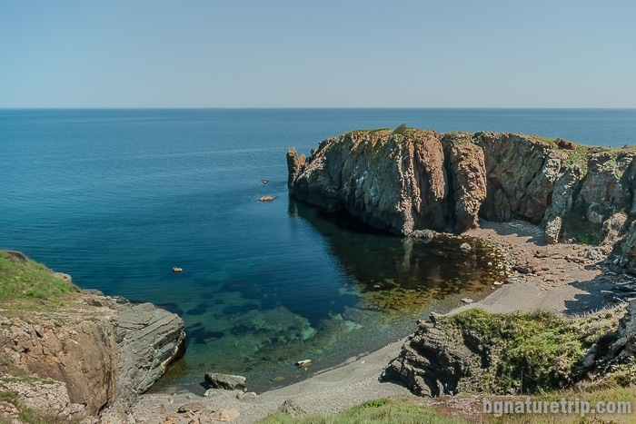 """A small beach between Lipite and Listi beach. In the right corner, you can see a high rock divided by two. They call it """"The Split Rock"""""""