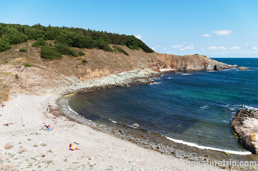 Kastrich Bay - a wild bay nearby Rezovo village on the Bulgarian Black Sea Coast