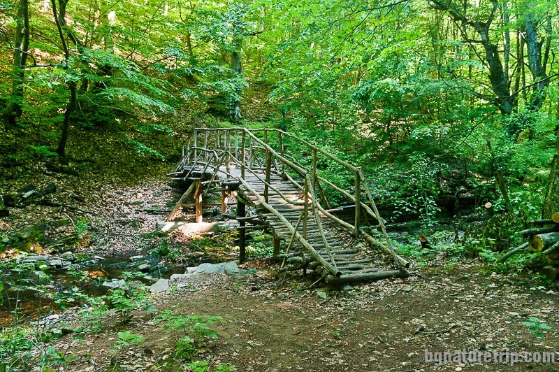 A new wooden bridge, but in an authentic look